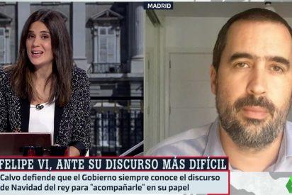 """Llapart y Cué 'calientan' en laSexta el discurso del Rey: """"El tema clave que escinde a PSOE y Podemos"""""""