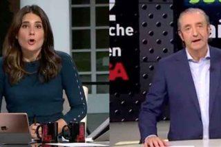 """María Llapart patina en directo con Pedrerol al llamarle Joan y este no tiene piedad: """"Gracias por acordarte de mi hermano"""""""