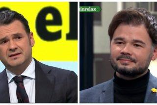 Gabriel Rufián, con la permisividad de Iñaki López, insulta a los periodistas críticos con el Gobierno PSOE-Podemos
