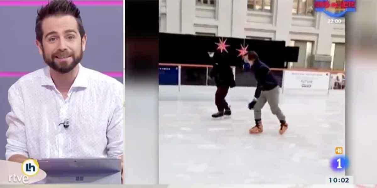 En TVE utilizan el divertido video de Martínez-Almeida patinador para atacar a Díaz Ayuso y su nuevo hospital