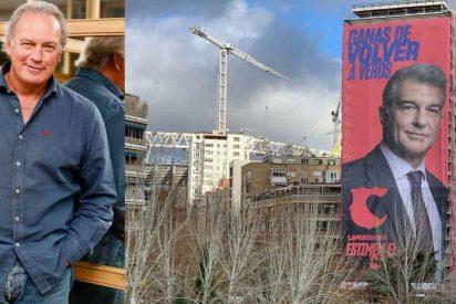 """El padre de Bertín Osborne estalla contra Laporta por colocar su cartel en su edificio: """"¡Podría haber buscado otra casa!"""""""