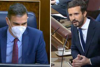 """Casado borra la sonrisa boba a Sánchez: """"¡Los únicos que salen más fuertes son Otegi, Rufián e Iglesias!"""""""