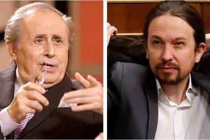 """Tensión en plató: Peñafiel salta en directo y llama """"sinvergüenza"""" y """"canalla"""" a Pablo Iglesias"""