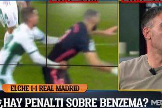 """Los madridistas estallan tras el empate: """"Si pitas el penalti que señalan al Elche, tienes que pitar el que hacen a Benzema"""""""