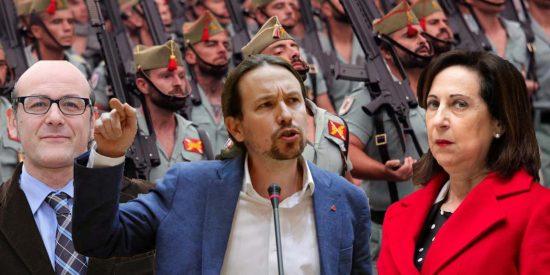 Podemos y PNV presionan a Robles para que lidere una purga ideológica dentro del Ejército