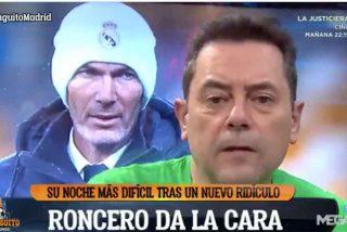 """Tomás Roncero, derrotado en 'El Chiringuito': """"El Real Madrid está dando pena"""""""