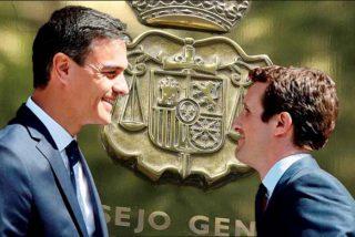 La llamada de 45 minutos de Sánchez y Casado aviva el 'asalto' comunista al CGPJ y expone un bulo del PSOE