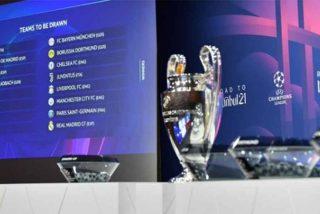 Champions League: Barça-PSG; Atalanta-Real Madrid; Atlético-Chelsea y Sevilla-Dortmund en octavos