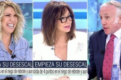 """El 'leñazo' de Inda a la tertuliana sanchista: """"¡Os tengo alergia a ti y a tu amigo Pablo Iglesias!"""""""