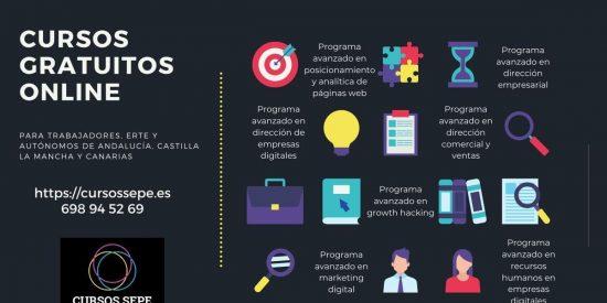 Cursos gratuitos para trabajadores de Castilla la Mancha, Andalucía y Canarias