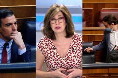 Ana Rosa Quintana 'liquida' a Sánchez e Iglesias con una inesperada confesión en directo