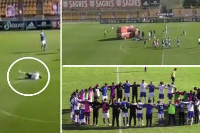 Fallece Alex Apolinario, el futbolista de 24 años que se desplomó en el campo