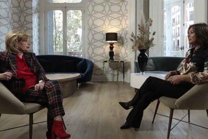 María Teresa Campos confiesa a Isabel Gemio su antipatía por Podemos y reafirma el papel de la Corona