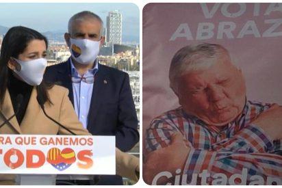 Arrimadas y Carrizosa retiran los carteles de Ciudadanos por usar modelos de un banco de imágenes