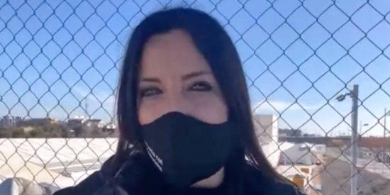 """Cristina Seguí visita el hospital 'volador' de Ximo Puig: """"¡Pero si esto parece un cutre invernadero!"""""""