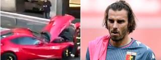 Un futbolista de Italia deja su Ferrari para que lo laven y se lo devuelven destrozado