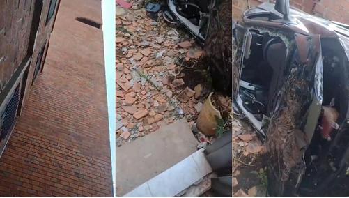 Una mujer fallece tras precipitarse con su coche desde una sexta planta