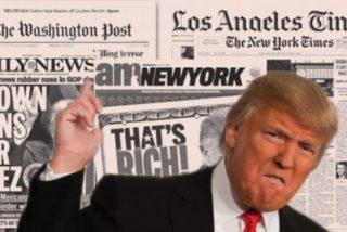Donald Trump no tiene quien le escriba: el periodismo de EEUU carga en bloque contra él