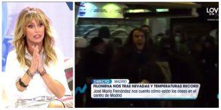 """El rebote de Emma García (Telecinco) ante una quedada para lanzarse bolas de nieve: """"¡Mira este gilipollas!"""""""
