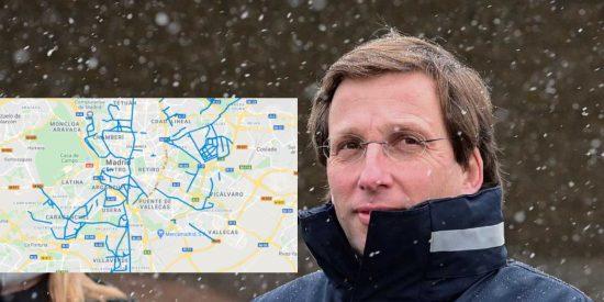Mapa de Madrid: Así están ahora mismo de nieve o hielo todas las calles, barrio a barrio