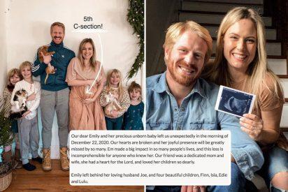 Muere tomando un café la influencer Emily Mitchell, que estaba embarazada de su quinto hijo