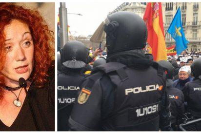 Policía y Guardia Civil 'azotan' a Fallarás por insinuar que su protesta frente al Congreso fue golpista