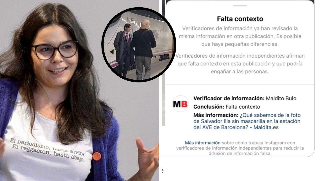 """Nuevo favor de Maldito Bulo a Sánchez: censuró la foto de Illa sin mascarilla """"porque faltaba contexto"""""""