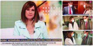 'Isobaras' Mónica López pone TVE al servicio electoral del socialista Illa en su adiós como ministro