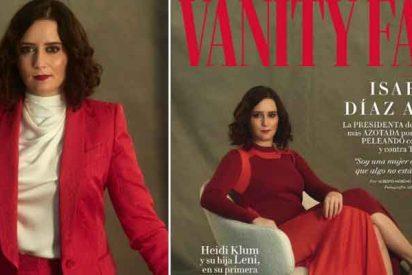 """Díaz Ayuso conquista la portada de Vanity Fair: """"He tenido muchísimas campañas de descrédito"""""""