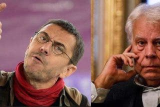 """El 'bulldog' Monedero llama """"hipócrita"""" a Felipe González para defender a su 'amo' Iglesias y a Puigdemont"""