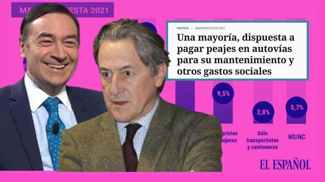 """Pedrojota dice que los españoles pagarían encantados el peaje en autovías y Tertsch le tacha de """"fregona"""" de Sánchez"""