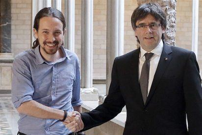 Pablo Iglesias equipara la fuga del golpista Puigdemont a la marcha al exilio de republicanos tras la Guerra Civil