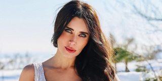 Pilar Rubio, en plan 'loba' y sólo en lencería, desafía la borrasca de nieve