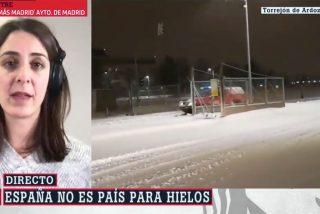 Rita Maestre culpa de la nevada a Ayuso y Almeida y hasta Ferreras le pide que frene