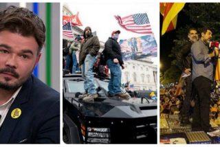 Troleo a Gabriel Rufián por aprovechar el asalto al Capitolio para vaticinar un golpe similar en España