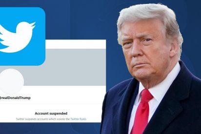 Twitter cierra permanentemente la cuenta de Donald Trump a quien solo queda 'Parler'