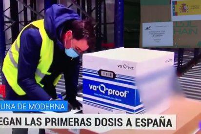 La vacuna de Moderna no permite al Gobierno Sánchez darse autobombo y TVE decide pixelarla