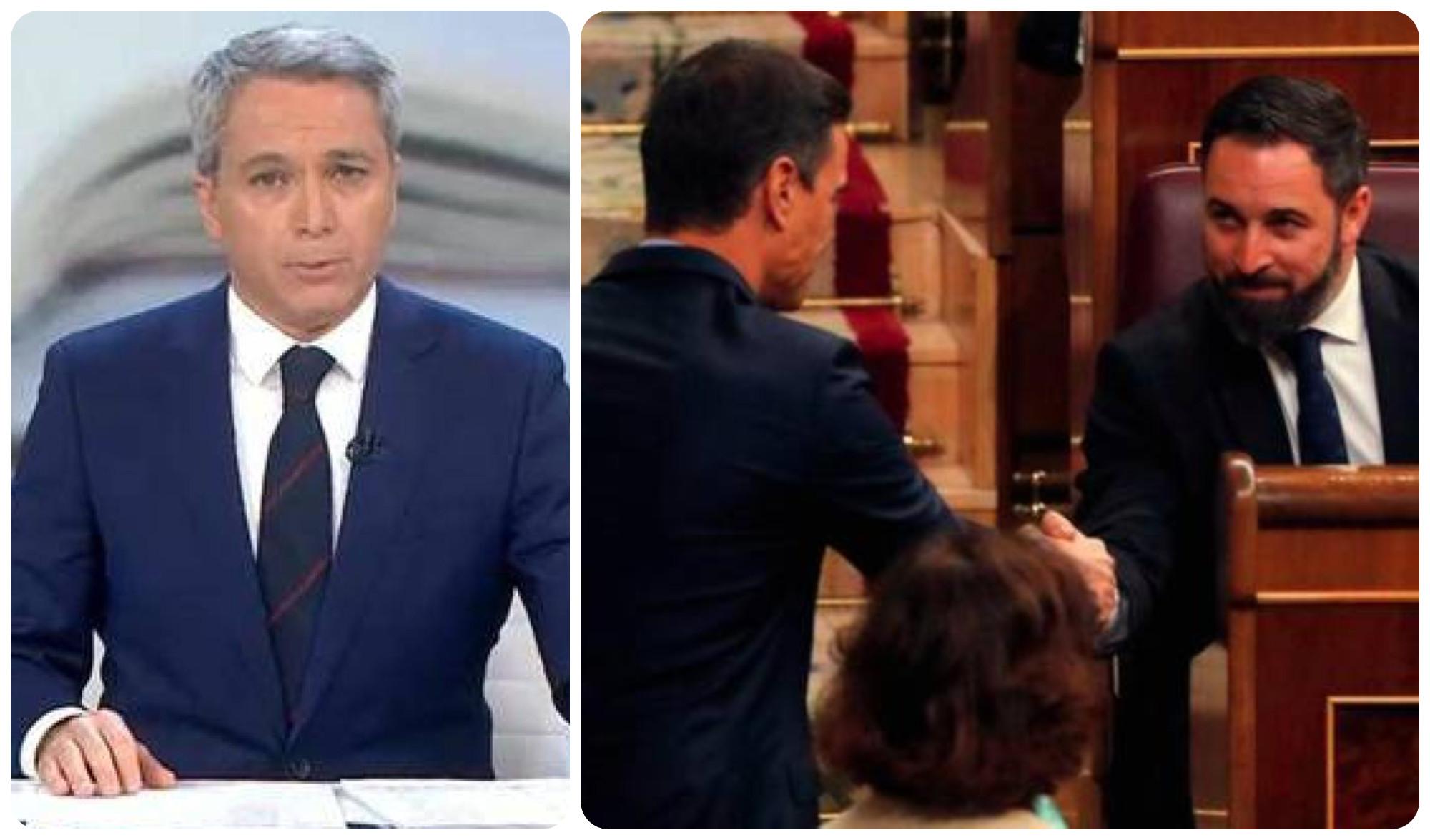 """Vallés: """"Los sobrecalentados diputados de Vox han salvado a Sánchez de estrellarse contra su propia temeridad"""""""