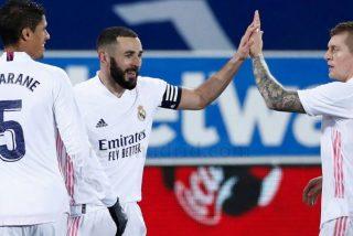 El Real Madrid cura su vergüenza con un Benzema que por fin marca goles