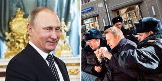 Máxima represión en Rusia: detienen a 1.770 manifestantes por apoyar al opositor Alexei Navalny