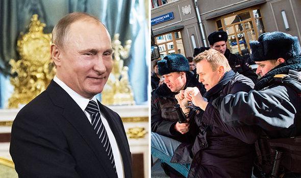 """Vladimir Putin llama """"terroristas"""" a la oposición y Alexei Navalny le desafía con una nueva marcha"""