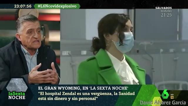 Wyoming salta como un perro rabioso contra el nuevo hospital del Gobierno de Isabel Díaz Ayuso