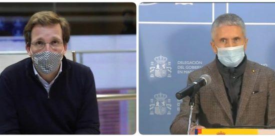"""Almeida a Marlaska: """"Al grano, ministro, o Madrid quedará bloqueada varios días por la nieve"""""""