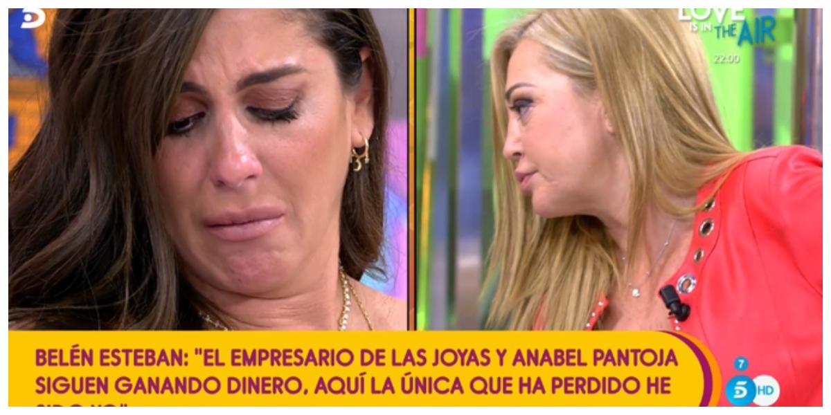 Anabel Pantoja abandona para siempre 'Sálvame' tras ser acusada de estafadora y de pelearse con Belén Esteban
