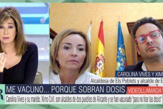 Reprimenda de Ana Rosa al matrimonio de alcaldes socialistas que se ha 'colocado' la vacuna del Covid porque sobraban…
