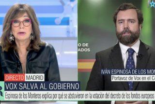 Espinosa de los Monteros (Vox) se revuelve contra el PP ante el troleo de Ana Rosa