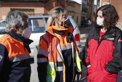 Díaz Ayuso resalta la labor de los ayuntamientos para volver a la normalidad tras la nevada