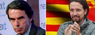 """Aznar deja KO al indepe Iglesias: """"No hay diferencia entre el asalto al Capitolio y los insurrectos del 1-O"""""""