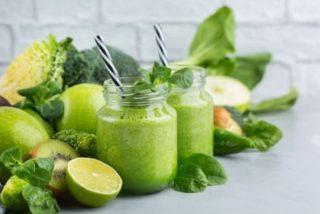 Smoothies verdes para el desayuno