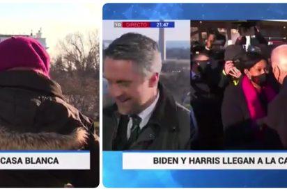 """La espantosa cobertura de TVE en la toma de posesión de Biden: """"Estoy tomando fotos como una reporterilla"""""""